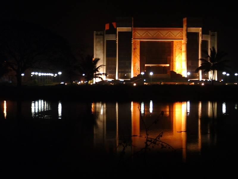 IIM_Calcutta_Auditorium_2_-_Across_the_lake_at_night