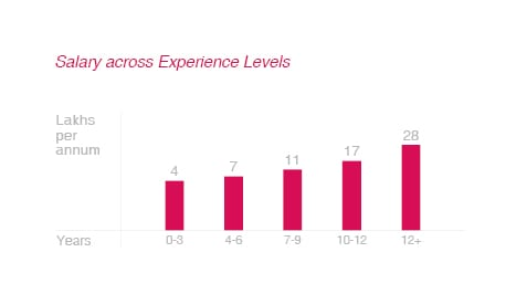 Salaries across Experience Levels