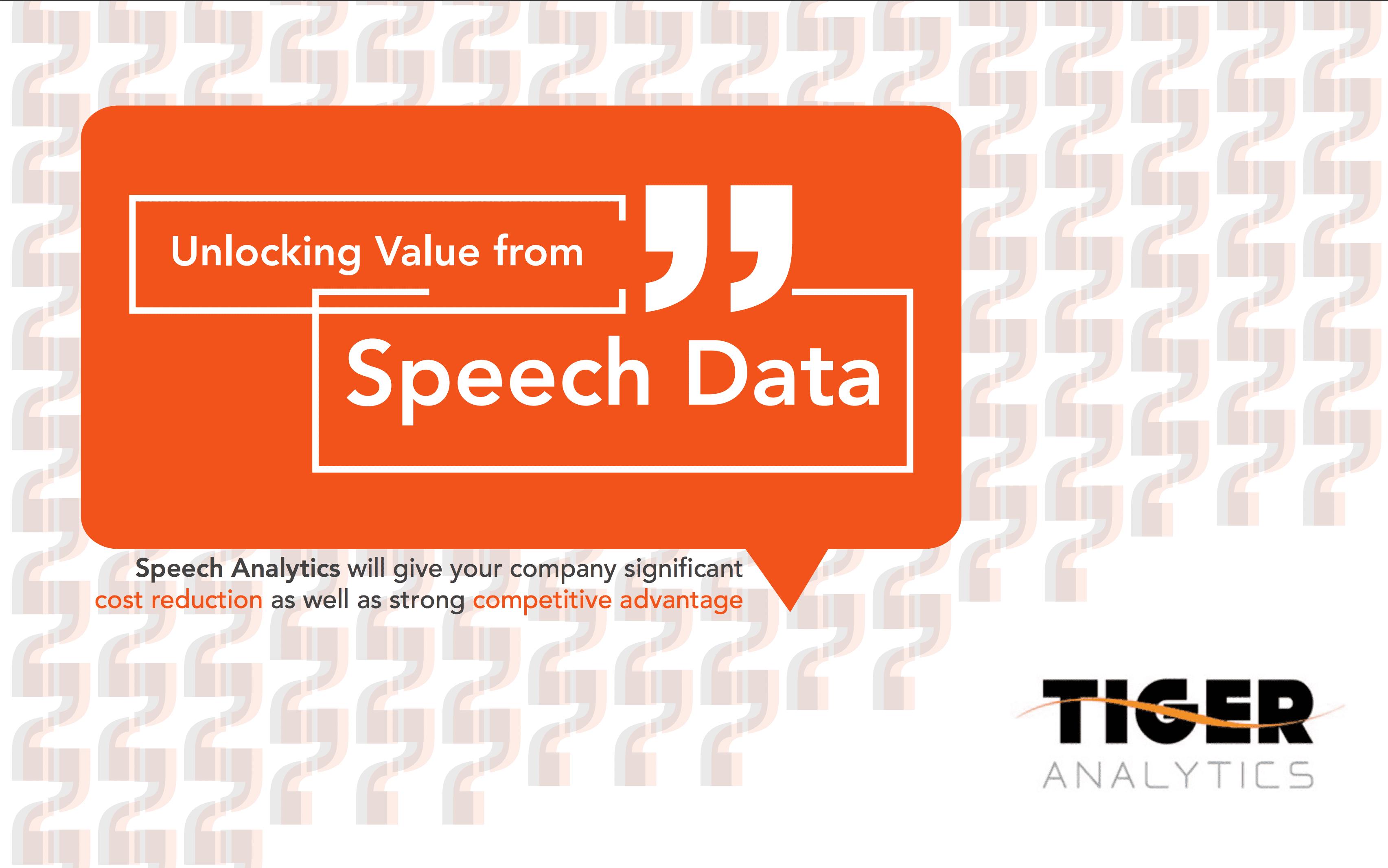 Unlocking Value from Speech Data