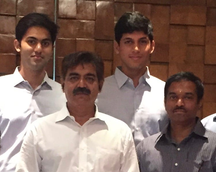Left-to-Right: Rajiv Reddy (Co-Founder), Ramarao Valluri (CTO), Anirudh Reddy (Co-Founder and CEO), Sudhakar R (Tech Lead)