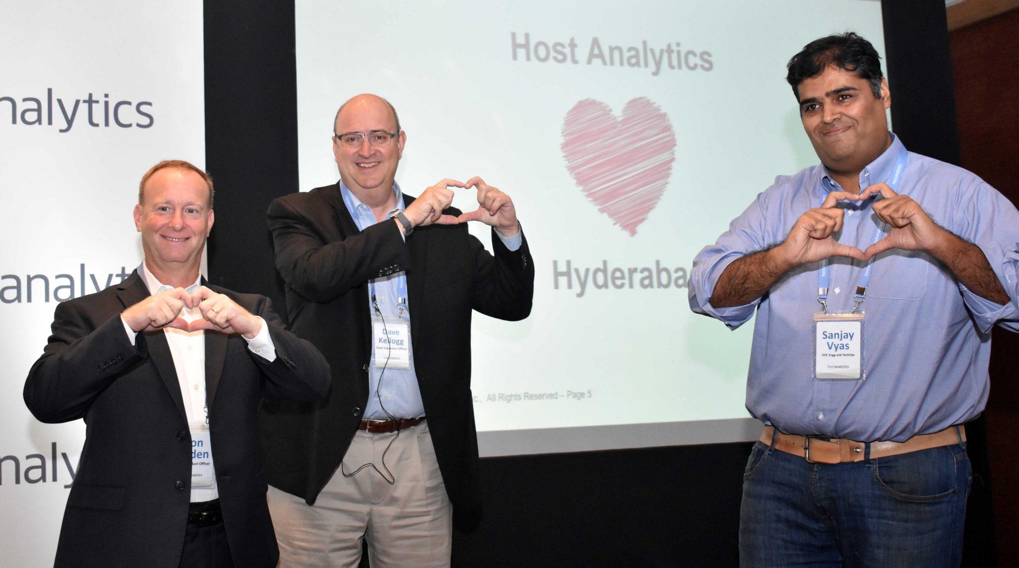 Ron Baden, Dave Kellogg, Sanjay Vyas of Host Analytics--pic 8
