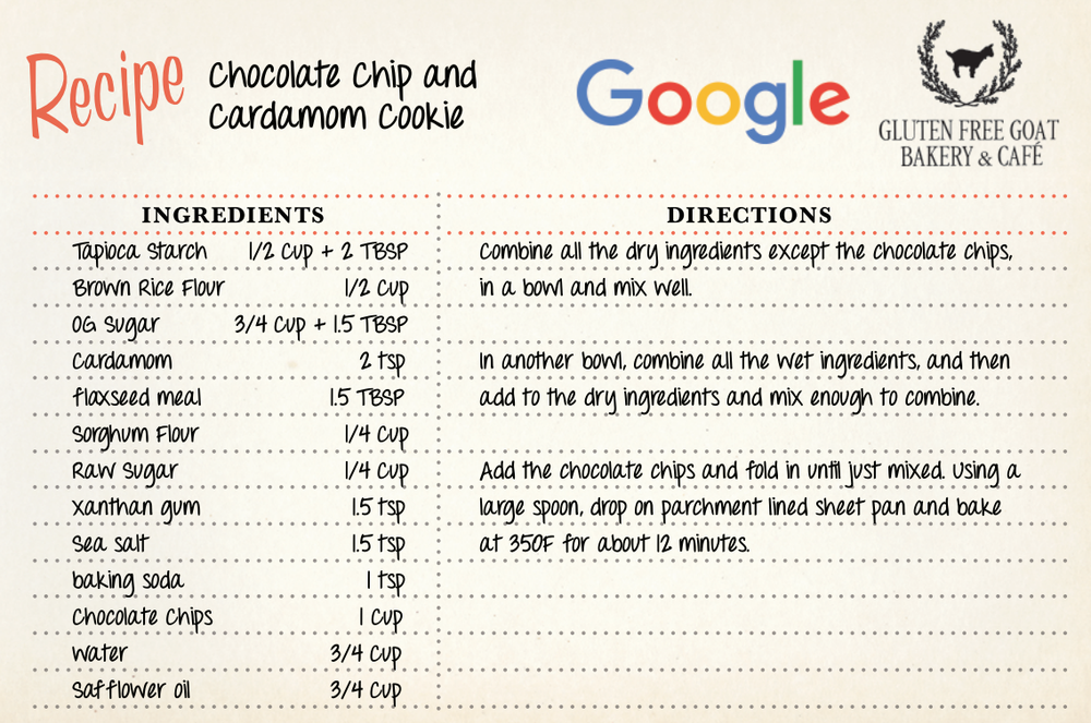 google cookie recipe