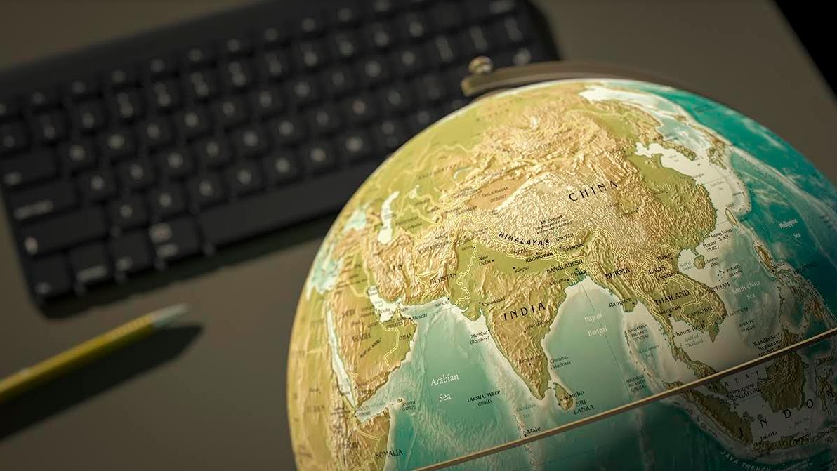 india globe