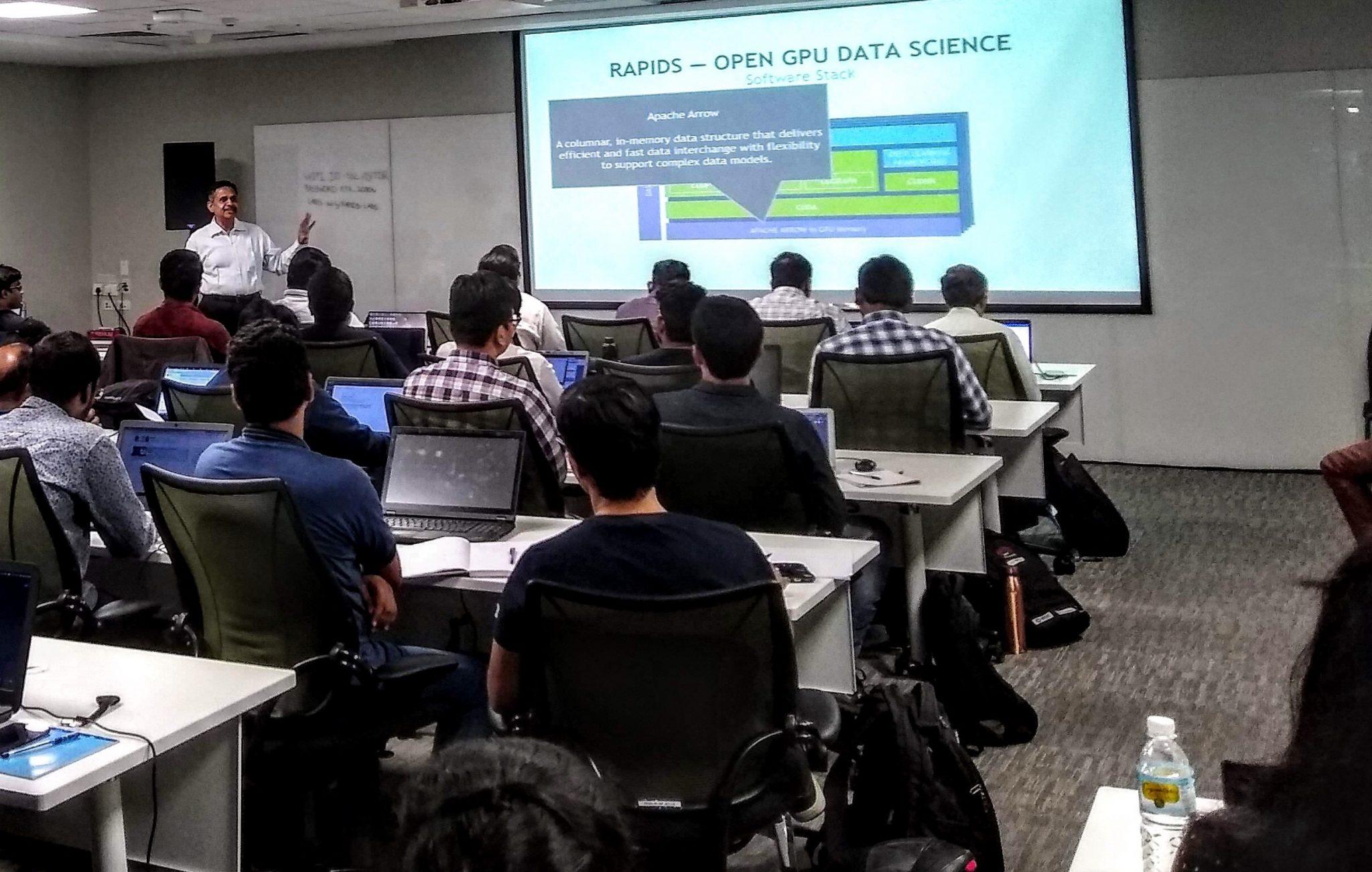 AIMinds & NVIDIA  RAPIDS GPU Accelerated Data Analytics and Machine Learning Workshop In Bangalore