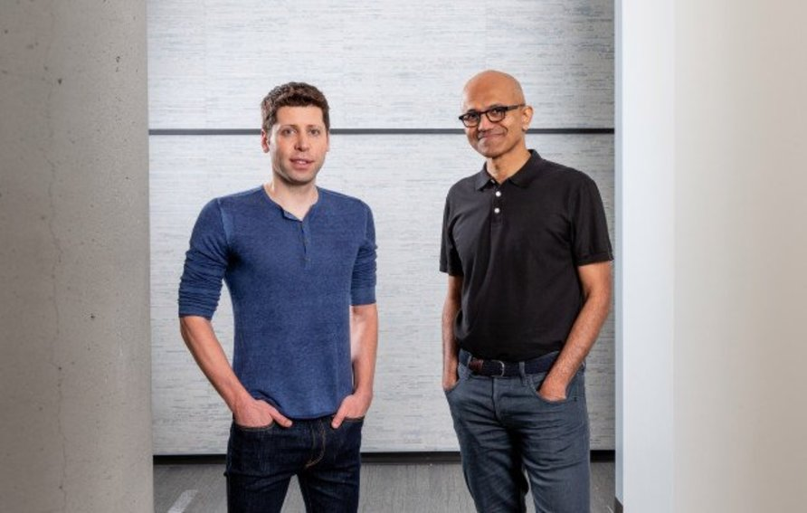 Sam Altman and Satya Nadella
