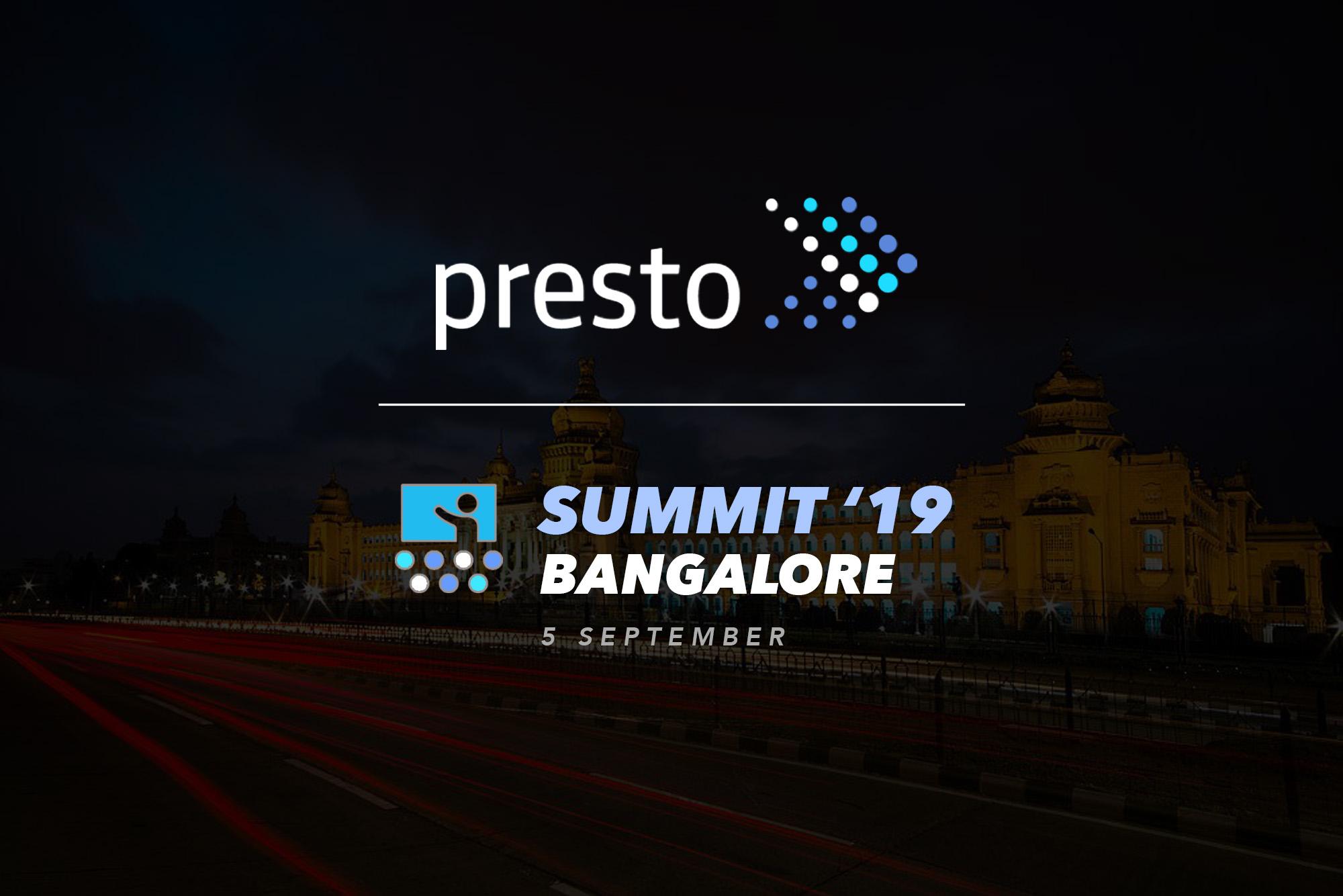 Presto Summit Bangalore