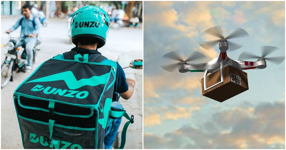 dunzo drones india