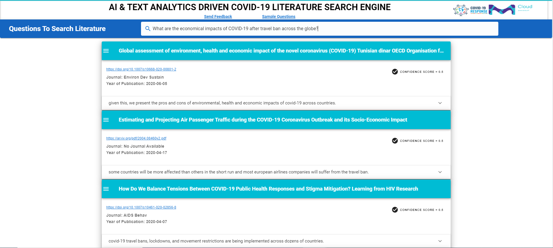 How This NLP-Driven Literature Search Engine Can Help In Extracting Relevant COVID Information For Medical Innovation