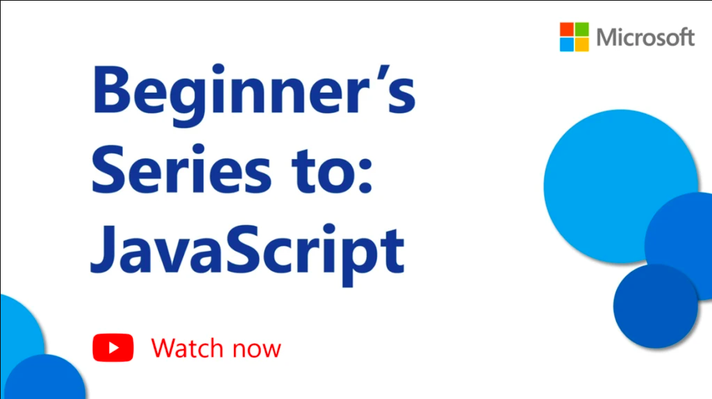 Now Learn JavaScript Programming Language With Microsoft