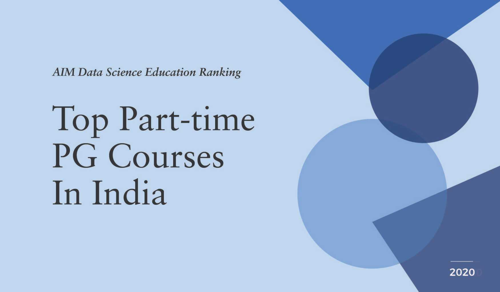 AI & Data Science Courses Ranking in India cover image