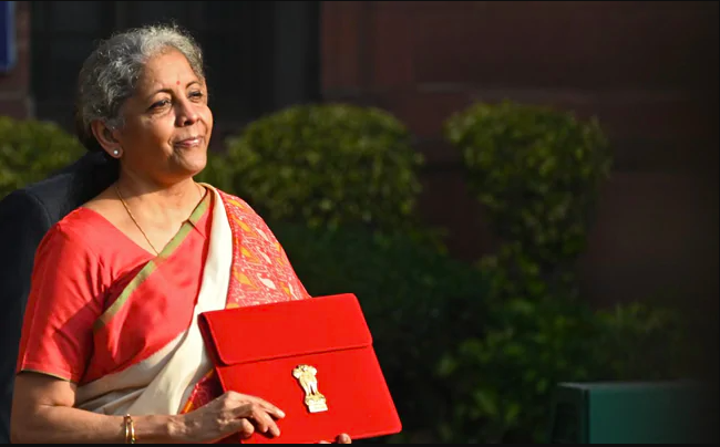 FM Sitharaman For The First Time Announces Budget Using 'Made in India' Tablet
